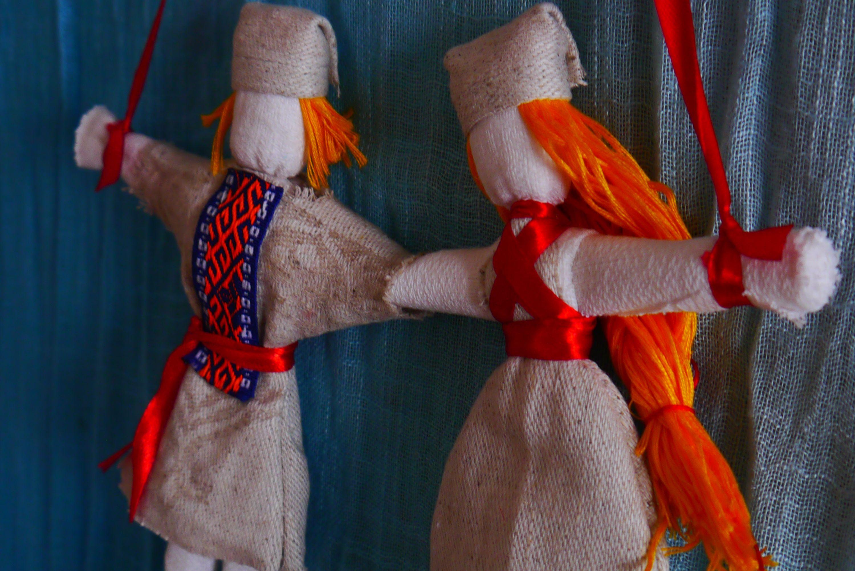 Неразлучники. Народная кукла из ткани, мастер-класс / Умелые 11
