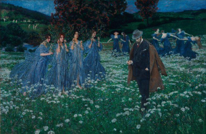 "Максимилиан Ленц / Maximilian Lenz (1860 - 1948) - австрийский художник - символист, график и скульптор  ""Мир"" 1899 г."